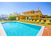 LS 507. Large and comfortable villa for 10 persons Albufeira, on the Algarve, Portugal.