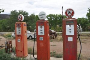 We will buy porcelain and tin signs, gas pumps