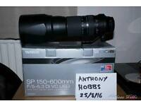 Tamron 150 - 600mm canon fit lens