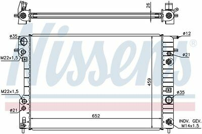 Radiator Nissens 63073A fits 1997 Cadillac Catera