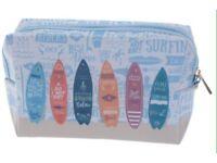 Surfboard make-up/wash bag