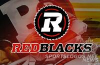BC LIONS @ REDBLACKS..Aug 25th..2,3,4 up to 10 together
