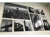 IKEA Rare (Sold Out) New York Manhattan Set of Art Prints / Canvas - Excellent Condition