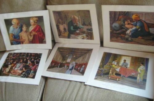VINTAGE HISTORY OF MEDICINE IN PICTURES 12 PRINTS ROBERT THOM 1957 SETS 2 & 3