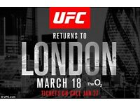 UFC London tickets x 2 (REDUCED FROM £230)