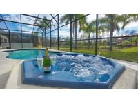 Tranquility, Stunning 4 bedroom Florida Rental,Pool/Spa, Lake View, Games Room. 15 Minutes to Disney