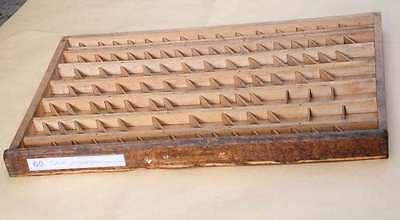 Setzkasten 65x44cm 30er Jahre original aus Druckerei Vintage Holzsetzkasten Vtg