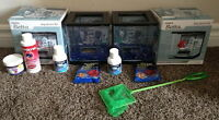 TWO BETS AQUARIUM KITS WITH ALL ACCESSORIES