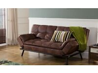 Texas Faux Leather Sofa Bed (Benson for Beds)