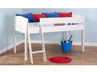 Mi-Zone Mid Sleeper Children's Bed - White