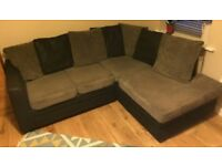 Corner sofa settee grey gray