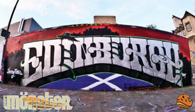 Graffiti & Mural Artist and Designer, EDINBURGH, GLASGOW, STIRLING, NATIONWIDE AND INTERNATIONAL.