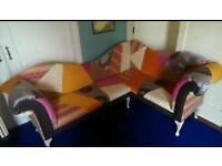 Corner sofa patchwork
