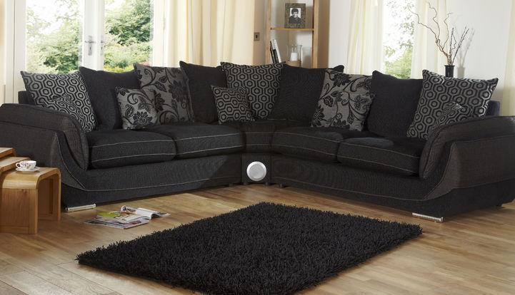 Matrix 3 And 3 Corner Sofa And Footstool Scs In