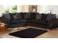 Corner Sofa (black and grey) SCS Matrix Range