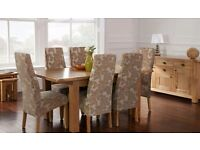 Dining table, solid oak dining table, oak table, oak table with chairs, extending dining table