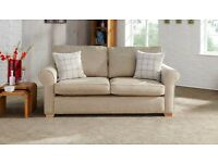 Sofa Bed, seldom if ever used, in store and need space. Cream/Beige velour, top quality construction