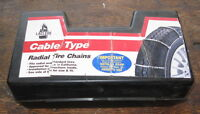 Cable Type Radial Tire Chains - LaClede Stock No. 1014