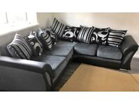 SUPER OFFER SHANNON BLACK & GREY CORNER SOFA IS AVAILABLE ON CHEAPEST PRICE IN STOCK