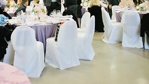 Wedding - white chair covers