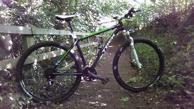 Trek hardtail xcaliber 7 29 bespoke bike with inhouse rims tyres stem bars ,