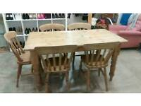 **Vintage Pine table and chairs**