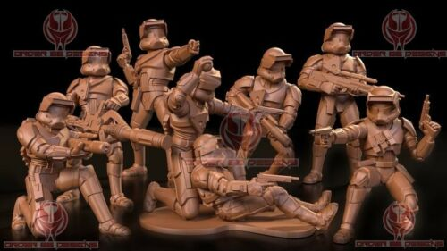 Star wars legion 3D Printed Old Republic Trooper Squad V1 - Clone Proxy