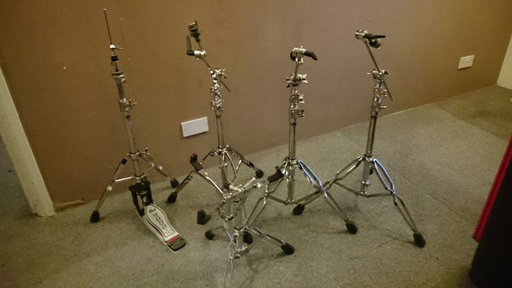 DW9000 Boom stands x3, snare stand and hi hat pedal