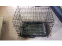 SMALL DOUBLE DOOR DOG CAGE