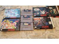 Rare Super Nintendo Snes games - including pocky and rocky NTSC