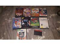 Nice collection of rare top quality sega games