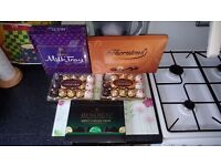 Chocolates Sweets For Sell 5 Boxes 2 x Ferrero Collection Milk tray Thorntons Bendicks Collection