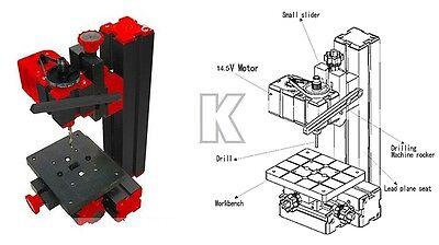 Mini CNC 6 In 1 tools Motorized  Machine Jig-saw Grinder Driller Metal Lathe
