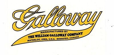 William Galloway Company Gas Engine Motor Hit Miss Decal Waterloo Winnepeg
