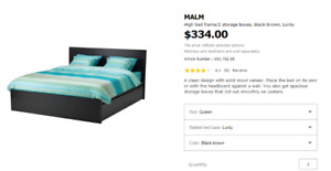 IKEA Queen size MALM bed frame for sale