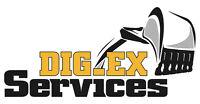 Dig-Ex mini excavator and skid steer services