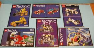 LEGO TECHNIC, LOT de 5 SETS no 8810-8816-8808-8210-8215