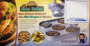 *NEW*Big City Slider Station Mini Burger Grilling Sensation BBQ