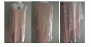 Marciano Beige Gabriella Embellished Dress Size M