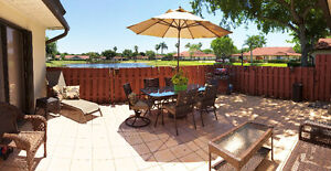 Villa for rent West Palm Beach lake front, patio, ground level