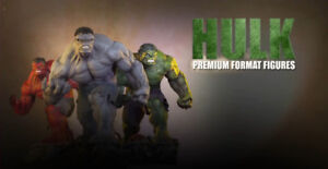 Sideshow Red, Green and Grey Hulk premium format, all exclusives