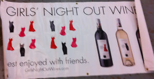 Advertising Banners ./ signs WINES SPIRITS COOLERS MAKE AN OFFER