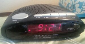CORA Digital Dual Alarm AM/FM Clock Radio