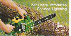 WANTED john deere chainsaws any color or condition London Ontario image 1