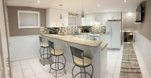 Furnished, Clean & Renovated Private Basement Apartment