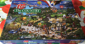 """MIKE JUPP CASSE-TÊTE """"I LOVE THE COUNTRY' GRANDE QUALITÉ- 1000"""