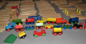 HUGE LOT OF BRIO WOODEN TRAIN TRACKS, TRAINS AND MORE! Peterborough Peterborough Area image 2
