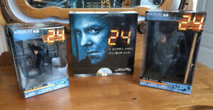 """24"" - Jack Bauer figures (2) & DVD board game ~ NEW (Mcfarlane)"