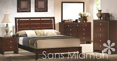 NEW! Eden Collection King Size Bed, 6 Piece Espresso Bedroom Furniture Set