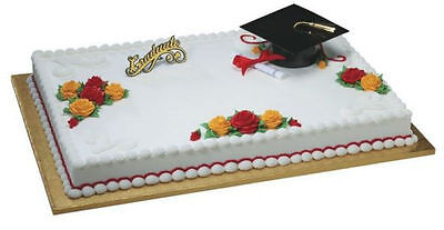 Grad Hat Graduation Diploma cake decoration Decoset cake topper set](Grad Hat)
